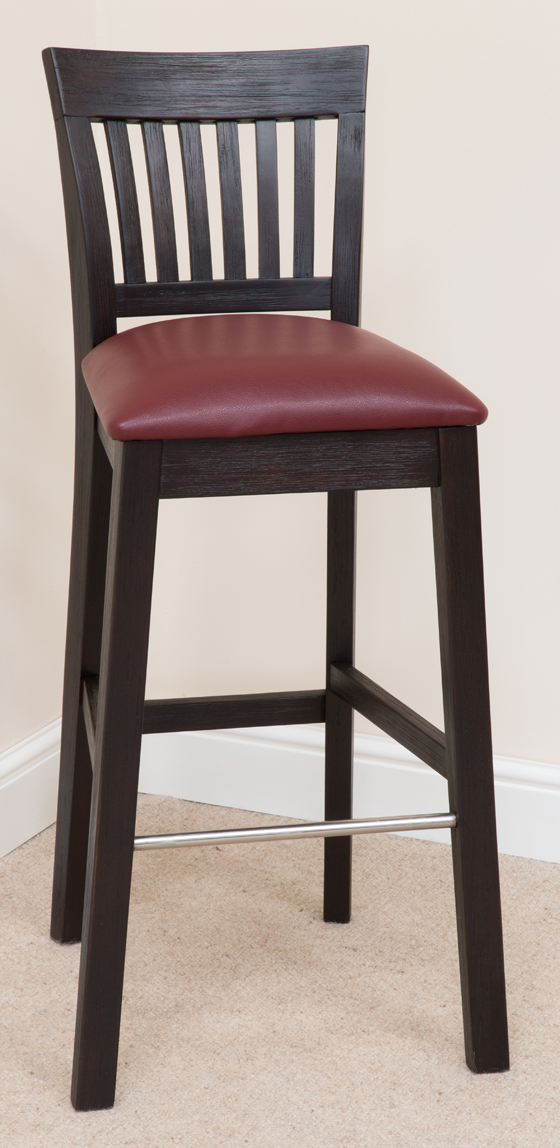 Bar Stool 339, Solid Oak, Beige Fabric - bar stools, bar stool, wooden stools, wooden bar stools, breakfast bar stools, kitchen bar stools